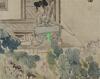 16.Antique Korean Painting - Asian Fine Art Print for Interior Frame, Collection-Order-Made(BUY 2 GET 1 FREE!!!)