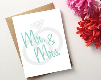 Mr. & Mrs. Wedding/Engagement/Bridal Shower Card