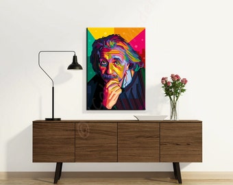 "Kunstdruck Portrait ""Albert"" - Hommage an Albert Einstein, ca. 50x70 cm, Wandbild, Digitaldruck, Kunst, Print, Digital Printing on Canvas"