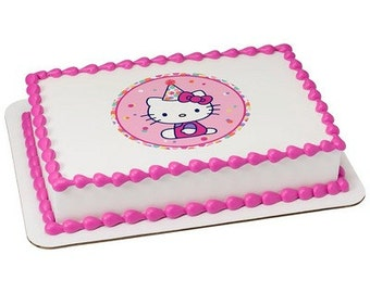 Hello Kitty Edible Cake or Cupcake Toppers - Choose Your Size
