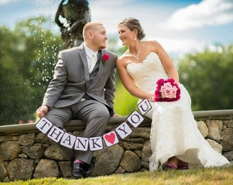 Wedding Thank You Banner - Wedding Picture Banner - Wedding Picture Prop - Thank You Wedding Banner