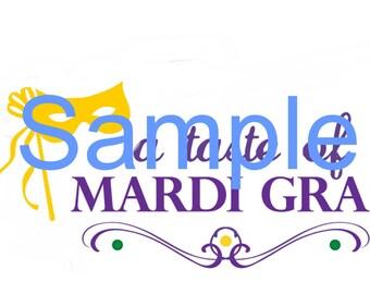 Taste of Mardi Gras SVG