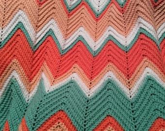 """Crochet Afghan, Crochet Blanket, Crochet Throw, Afghan, Throw, Blanket, 40"""" by 66"""