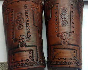 Suzanne's Protection (Leather Steampunk Bracers)