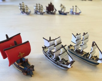 Polymer Clay Miniature Ship
