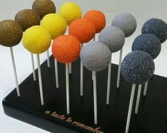12 Sugar Coated Cake Pops - Any Color