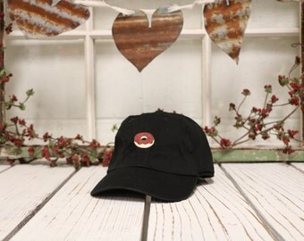 DONUT Baseball Hat Low Profile Embroidered Baseball Caps Dad Hats Black