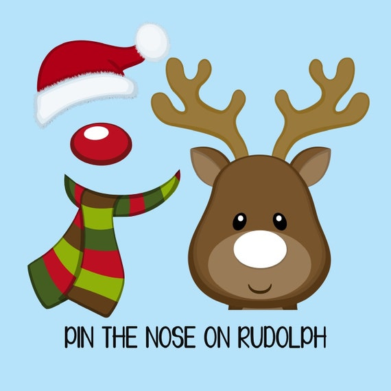 Handy image within pin the nose on rudolph printable