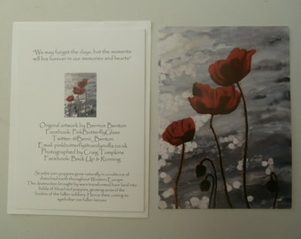 Blank Card : Poppies,