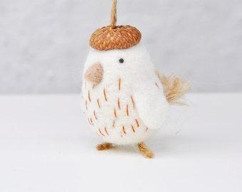 needle felted bird ornament, needle felted animal, bird ornament, animal ornament, chick ornament, Christmas ornament