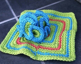 Coral Reef Washcloth and Scrubby Set