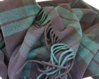 Vintage Pendleton Woolen Mills Throw Blanket// Plaid Wool Throw// Vintage Throw Blanket// Made In USA