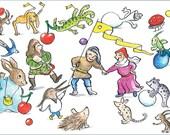 Jeroen Bosch postcard with envelope - Happy JHieronimus Bosch 2016 - Greeting Card