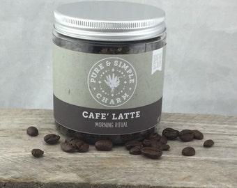 Cafe Latte Sugar Scrub, Coffee Sugar Scrub, Homemade Coffee Sugar Scrub, Coffee Lovers Sugar Scrub, Mocha Body Scrub, Latte Sugar Scrub