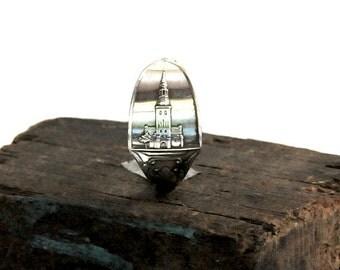 denmark ring,spoon ring,  danish ring, european ring, aalborg ring