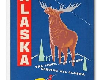 Alaska Art Vintage Travel Poster Retro Home Decor Print xr949
