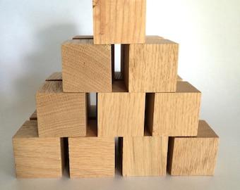 "FREE US SHIPPING- Set of 20 1 3/4"" Wood Blocks in a drawstring bag"