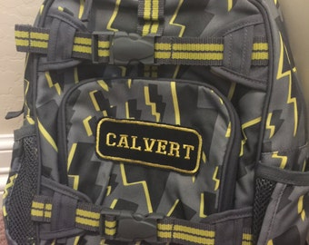 Grey Yellow Flash Lightening Backpack Small Pottery Barn Personalized