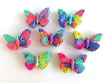25 Butterfly Shaped Crayons, Easter Basket Filler, Easter Egg, Butterfly Birthday, Mariposa Birthday, Garden Birthday, Recycled Crayon