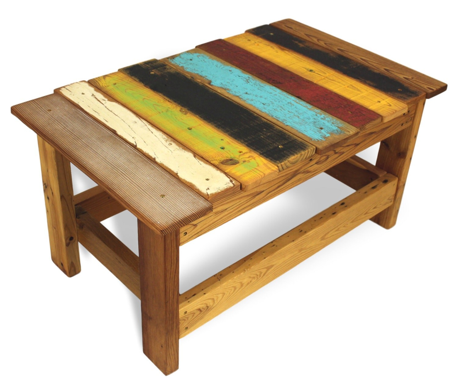 Rustic All Wood Coffee Table: Rustic Coffee Table Salvaged Wood Table Reclaimed Wood