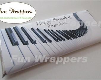 Piano candy bar wrapper | Piano Chocolate Bar Wrapper | Piano birthday | Piano favour | Piano favor | Piano candy wrapper | Piano keys