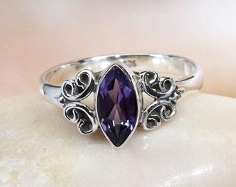 Iolite Ring, Gemstone Ring, Iolite Stone Ring, Handmade Ring, Designer Iolite Ring, Unique Ring, Women Silver Ring, 925 Sterling Silver Ring