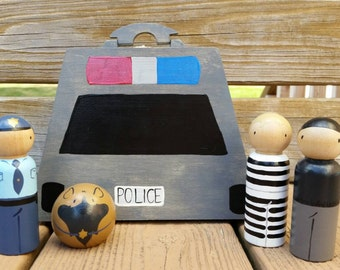 READY TO SHIP - Cops and Robbers Take Along Play Box