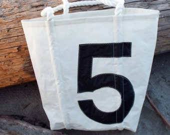 Recycled Sail Bag with Large #5