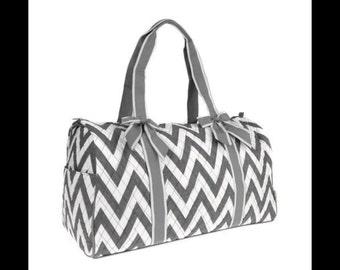 Monogrammed Ladies Large Weekend Bag, Chevron Bag, Weekend Duffle, Lg Duffle Bag, Travel Duffle Bag, Travel, Luggage, Personalized luggage
