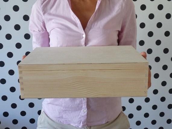 Large Wooden Treasure Box 10x14 25x35cm Storage Box