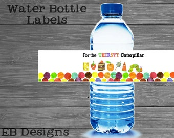 Hungry Caterpillar Water Bottle Labels