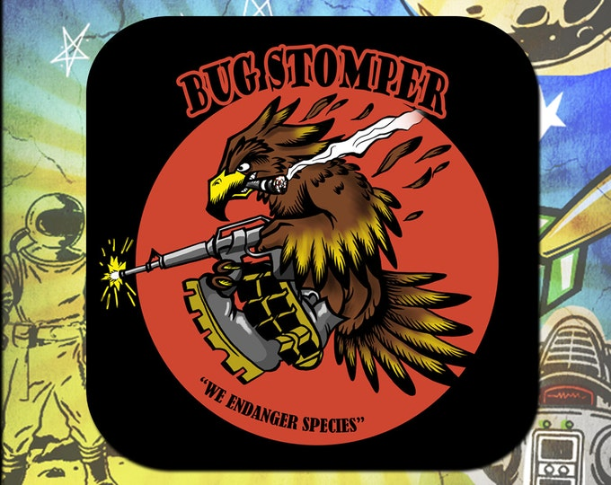 Bugstomper Aliens Drop Ship Nose Art Coaster Set