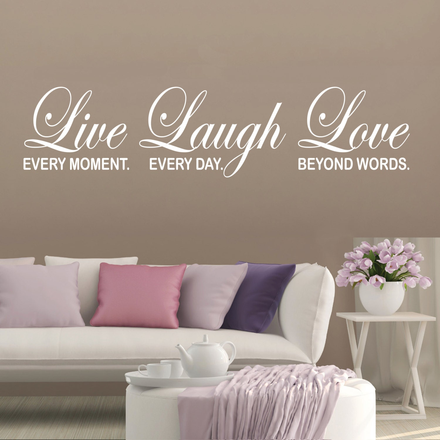 Bedroom wall decal inspirational quote live laugh love home for Bedroom inspiration quotes