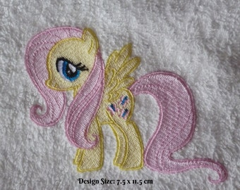 Fluttershy My Little Pony Design (240) - Personalised Cotton Bath Towel