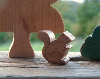 Toy wooden squirrel