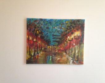 """Inspired Painting - LIGHTS (16"""" x 20"""") (Stretched Canvas)"""