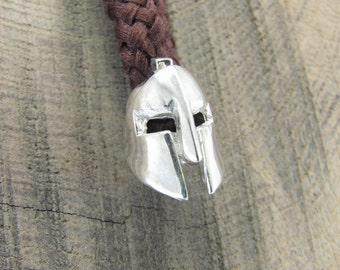 Spartan Helmet Bead Paracord Sterling silver