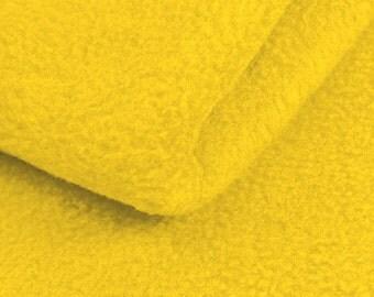 Yellow Fleece Fabric - by the yard