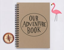 "Our Adventure Book - 5"" x 7"" Journal, travel journal, notebook, travel notebook, diary, memory book, scrapbook, journey, vacation, trip"