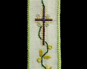 Religious Bible Bookmark handmade cross stitch