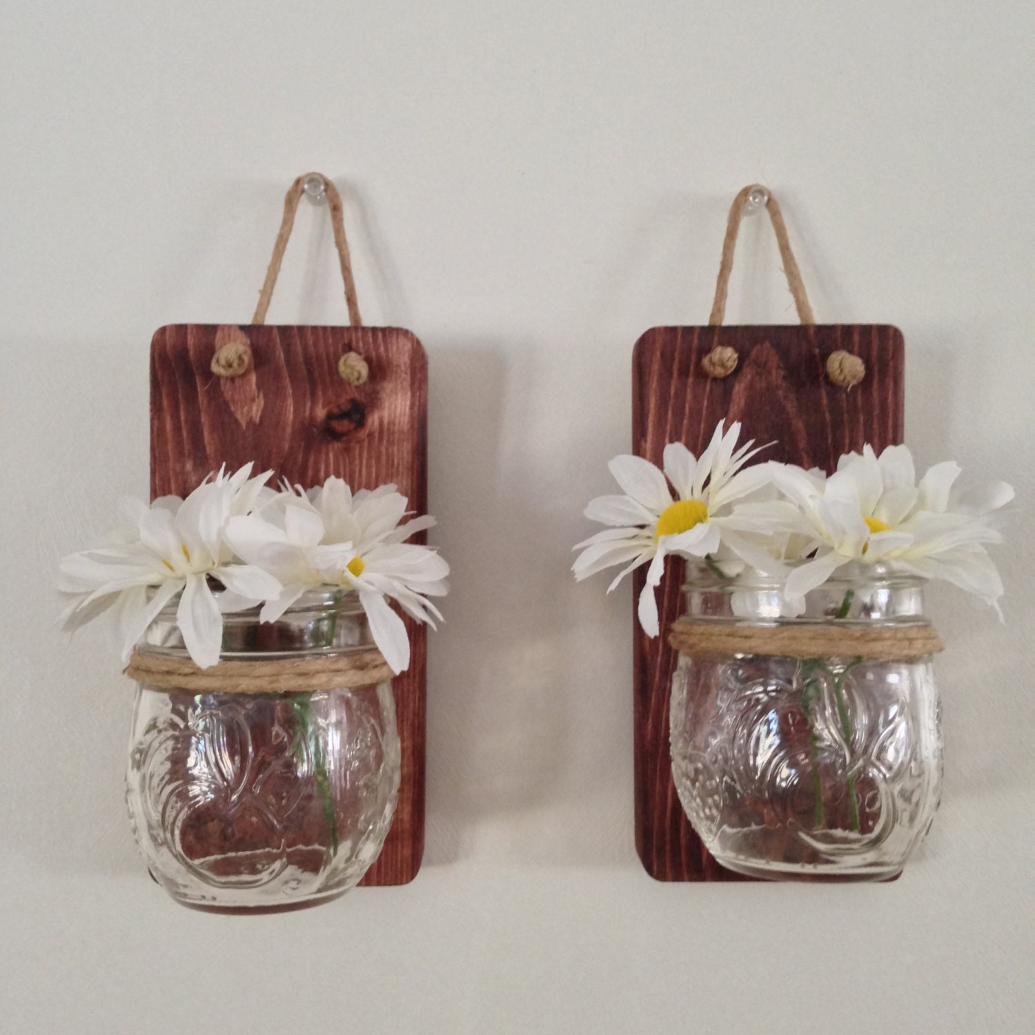 small mason jar wall rustic sconce with 8oz jelly jam jars. Black Bedroom Furniture Sets. Home Design Ideas