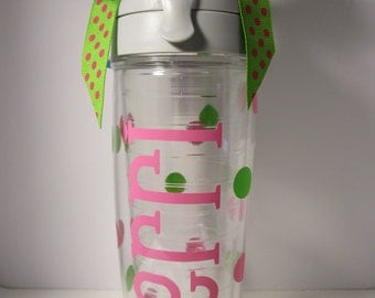 Tervis Tumbler with Name and Polka Dots