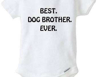 Baby Applique bodysuit, Funny bodysuit, Dog Brother bodysuit, Baby Clothes, baby bodysuit, Baby Shower Gift