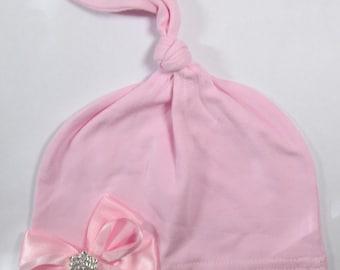 Newborn Hospital Hat, Newborn Knot Beanie, Newborn Hat, Newborn Photo Hat, Newborn Baby Hospital Hat, Knot Hospital Hat, Baby Keepsake