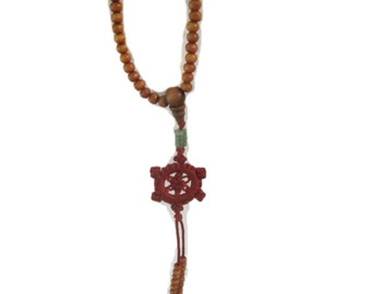 Beaded Asian Necklace with Pendant