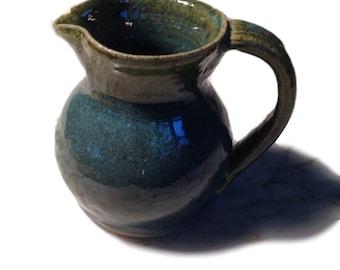 Berkshire Studio Pottery Ceramic Blue Creamer - Handcrafted