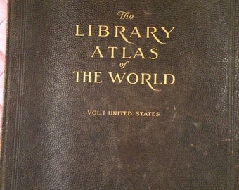 Library Atlas of the World - Rand McNally, 1912