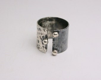 Sterling Silver Ring - Handmade - Funky