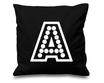 Alphabet Pillow, Initial Cushion, Custom Alphabet Cushion, Initial Pillow, Bedroom Living Room Decor, Decorative Pillow