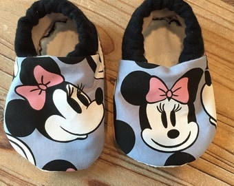 Soft sole baby shoes, baby mini mouse shoes